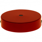 Ceiling rose D.10cm 1 hole 10mm metal red