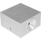 Aplique EOS 1x3W LED C.8xL.8xAlt.4,5cm Alumínio