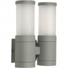 Aplique GLADYS IP54 2xE27 L.17xAn.9,5xAl.21cm Metal+Vidrio Gris