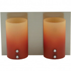 Aplique IRENE 2xG9 C.23xL.11,5xAlt.15cm Laranja/Amarelo/Níquel
