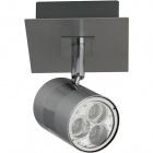 Aplique XAVIER 1x3W LED L.10xAn.10xAl.12cm Niquel/Cromo