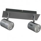 Aplique XAVIER 2x6W LED L.25xAn.8xAl.13cm Niquel/Cromo