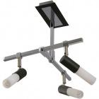 Lámpara de Techo BRUNO 3xGU10 L.27xAn.30xAl.31cm Wengue/Cromo