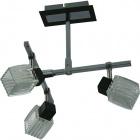 Lámpara de Techo DIOGO 3xG9 L.27xAn.30xAl.32cm Wengue/Cromo