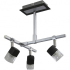 Lámpara de Techo AFONSO 3xG9 L.29xAn.31xAl.32cm Wengue/Cromo