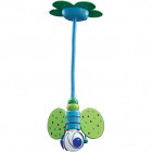 Colgante ABELHA 1xE27 Al.64xD.24cm Azul/Verde
