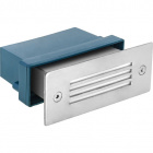 Recessed Wall Lamp AVATAR rectangular small curtain IP54 1x0,8W LED L.11xW.6xH.4,5cm Stainless Steel