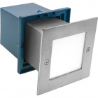 Recessed Wall Lamp BAVANI square large IP54 1x1,5W LED 80lm 6500K L.10,5xW.9,5xH.10,5cm Stainless St