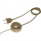 Extensão c/interruptor pé 3,00m dourada 025859