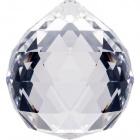 Crystal end stone D.3cm transparent