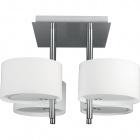 Plafond ALANDRA round 4xE14 L.40xW.40xH.31cm White/Satin Nickel