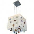 Ceiling Lamp GORETI 5xE14 L.31xW.32xH.Reg.cm Acrylic White/Chrome