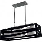 Ceiling Lamp CEPHEUS 3xE27 L.64xW.22xH.Reg.cm Acrylic Black