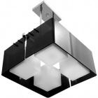 Candeeiro de tecto ROBERTA quadrado 4xE27 C.41xL.41xAlt.Reg.cm Acrílico Preto/Cromado