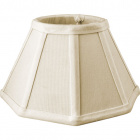 Lampshade UCRANIANO round & conic with fitting E14 H.12xD.22cm White