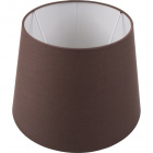 Lampshade BRITANICO round & conic with fitting E27 H.20xD.25,5cm Brown