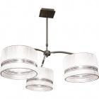 Lámpara de Techo JAQUELINE 3xE27 Al.Reg.xD.80cm Marfil/Cromo