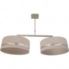 Ceiling Lamp JAQUELINE 6xE27 L.98xW.40xH.Reg.cm Ivory/Chrome