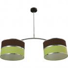 Lámpara de Techo OLGA 2xE27 L.85xAn.30xAl.Reg.cm Verde/Marron