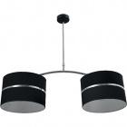Ceiling Lamp OLGA 2xE27 L.85xW.30xH.Reg.cm Black/Chrome