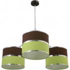 Ceiling Lamp OLGA 3xE27 H.Reg.xD.85cm Green/Brown