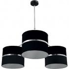 Ceiling Lamp OLGA 3xE27 H.Reg.xD.85cm Black/Chrome