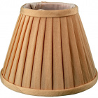Lampshade JORDANO round & conic with folds with fitting E14 H.12,5xD.17,5cm Beije