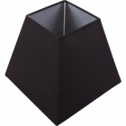 Lampshade IRLANDES square prism large with fitting E27 L.22xW.22xH.18,5cm Black