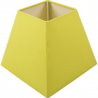 Lampshade IRLANDES square prism large with fitting E27 L.22xW.22xH.18,5cm Green