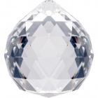 Crystal end stone D.4cm transparent
