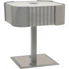 Candeeiro de mesa LIZETE quadrado 2xE27 C.26xL.26xAlt.30cm Cinzento/Cromado