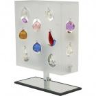 Table Lamp GORETI 1xE27 L.24xW.9xH.31cm White/Chrome