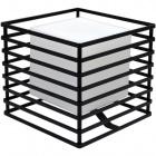 Candeeiro de mesa ROSÁRIA quadrado 1xE27 C.23xL.23xAlt.21cm Preto