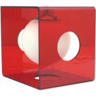 Candeeiro de mesa RITA 1xE14 C.19,5xL.22xAlt.22cm Vermelho