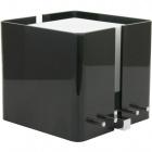 Candeeiro de mesa ROBERTA quadrado 1xE27 C.20,5xL.20,5xAlt.18cm Acrílico Preto