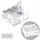 Compact connector for cable 3 poles 0,2-4mm transparent (box 50pcs)
