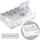 Compact connector for cable 3 poles 0,2-4mm transparent (box 25pcs)