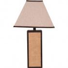 Candeeiro de mesa OTÍLIA quadrado 1xE27 C.36xL.36xAlt.65cm Castanho/Bege