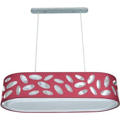 Ceiling Lamp FRISIA oval 4xE27 L.90xW.35xH.Reg.cm Aubergine/White