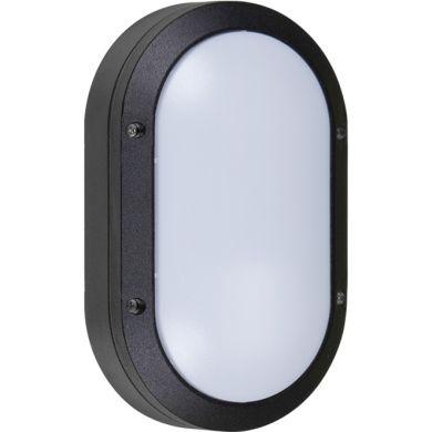 Aplique AMAZONAS pequeño IP54 1xE27 L.13,5xAn.6xAl.22cm Aluminio + Policarbonato (PC) Negro