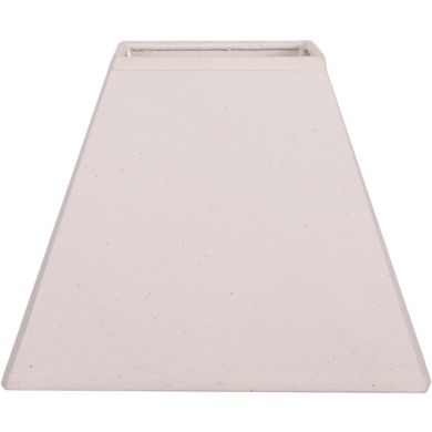 Lampshade DANIA square prism flat with clamp L.12xW.12xH.10,5cm Beije