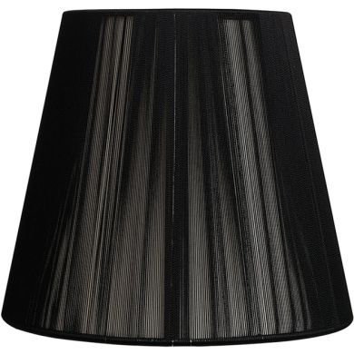 Lampshade INDIRA round & conic in threads with fitting E27 H.24xD.40cm Black