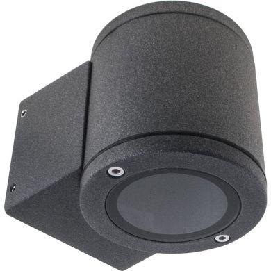 Aplique HILL IP54 1xGU10 L.8xAn.11xAl.8,5cm Aluminio+Vidrio Antracita