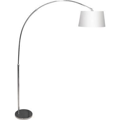 Lámpara de Pie ANTONELLA 1xE27 L.126xAl.Reg.cmBlanco/Cromo