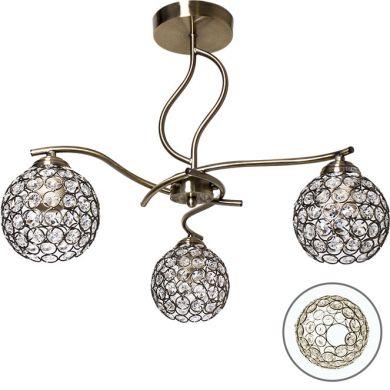 Ceiling Lamp Balbina 3xE27 H.43xD.52cm Antique Brass