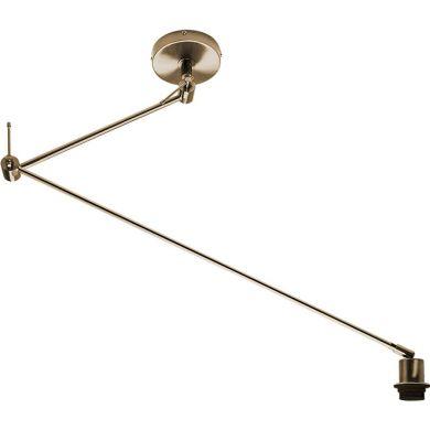 Lámpara de Techo HAIA brazo articulado sin pantalla 1xE27 L.13xAn.90xAl.Reg.cm Cuero