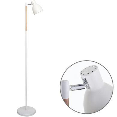 Floor Lamp DELZA 1xE27 H.147xD.33cm White/Wood