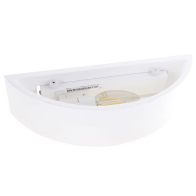 Wall Lamp ELMA 1xE14 W.30xW.10xH.7,5cm in plaster White