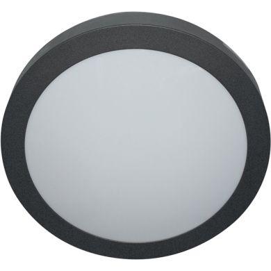 Plafón VOUGA IP54 2xE27 Al.11xD.38cm Negro