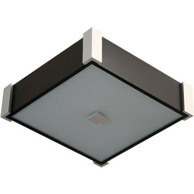 Plafond MARILENE quadrado 2xE27 C.32xL.32xAlt.9cm Wengue